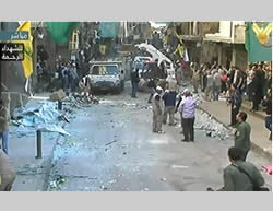 The scene of the attacks in the neighborhood of Burj al-Barajneh, in Beirut's southern Shiite suburb, which is controlled by Hezbollah (Al-Manar TV, November 12 and 13, 2015)