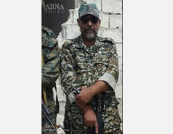 Brigadier General Farshad Hasounizadeh, former commander of the Saberin special forces brigade, killed on October 12, 2015, near Aleppo.