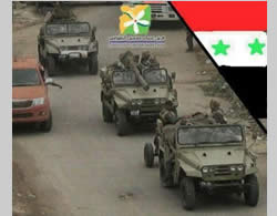 Iranian Safir jeeps in use by the Syrian army