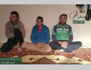 Three Al-Yarmouk Martyrs Brigade operatives who obeyed the ultimatum and surrendered to Jaysh al-Fatah.