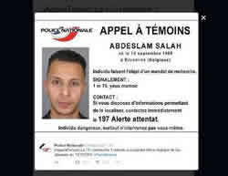 Salah Abdeslam, the eighth operative who carried out the attack in Paris (Twitter account of the Paris police department, November 15, 2015)