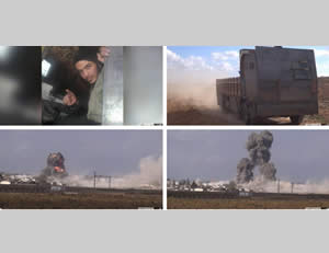 ISIS suicide bombing attack in the area of the Kuweyres military airbase
