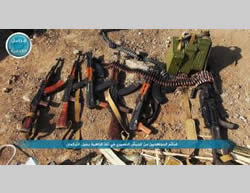 Syrian Army weapons that fell into the hands of the Al-Nusra Front in Jabal al-Zahiyah (Al-Nusra Front-affiliated Twitter account, November 27, 2015).