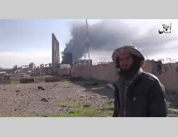 ISIS operative near the power plant northeast of the city of Baiji.