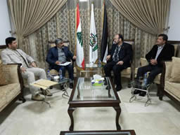 Ali Baraka, Hamas representative in Lebanon, meets with an Iranian diplomat in Beirut (Facebook page of Ali Baraka, December 10, 2015).
