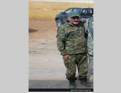 Hossein Fadaei, a senior commander in the Fatemiyoun Brigade, killed in Syria