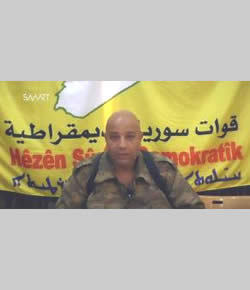 Colonel Talil Slaw, spokesman for the Syrian Democratic Forces (YouTube, November 6, 2015).