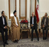 Mohammad Javad Zarif meets with Ammar Hakim in Tehran (IRNA, December 28, 2015).