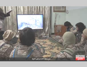 ISIS operatives at a briefing before leaving to attack an Iraqi Army base east of Fallujah (Akhbar Dawlat al-Islam, January 3, 2016)