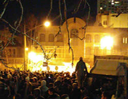 The Saudi Arabia embassy in Tehran in flames (Tweet, January 2, 2016).