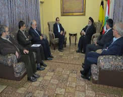 Nasrallah meets with an Iranian ministry of health delegation (IRNA, January 7, 2016).