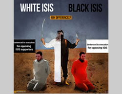 Iranian propaganda comparing Saudi Arabian terrorism to ISIS (Website of Iran's supreme leader January 2, 2016)