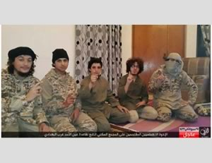 The group of suicide bombers who carried out the attack in Ain al-Assad  (Akhbar al-Muslimeen, February 5, 2016)