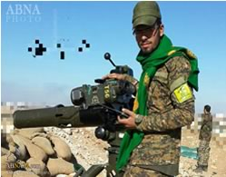 A Toophan anti-tank missile, used by Hezbollah in Syria (ABNA, January 31, 2016).
