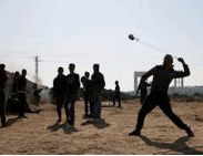 Palestinians riot near the Erez crossing in the northern Gaza Strip