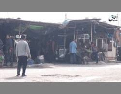 The marketplace in Fallujah: it is apparent that there is food, albeit not in abundant quantities (Aamaq, February 21, 2016).