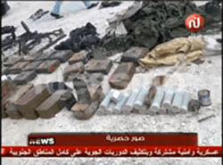 Weapons seized by the Tunisian security forces after the raid on Ben Gardane (Al-Sabah News, March 7, 2016).