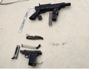 The weapons found in the possession of the terrorists (IDF spokesman, March 14, 2016).