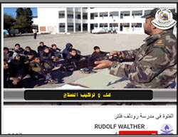 Military training given at the Rudolf Walther School in Deir al-Balah in the Gaza Strip.