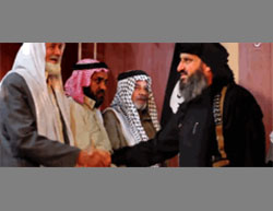 ISIS operative meeting with the heads of the Albu Hamad tribe.