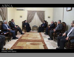 The chairman of the Iranian Shaheed Foundation meets with the leader of Hezbollah  (ABNA, April 27, 2016).