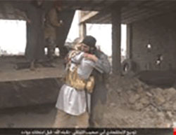 ISIS suicide bomber codenamed Abu Suhaib the Lebanese, before carrying out a suicide bombing attack against the Syrian Army in the Al-Tahtouh neighborhood, in eastern Deir al-Zor
