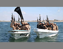 Indian ISIS operatives in the area of Homs (Khilafah Mubasher, May 20, 2016). The photos were apparently taken on Lake Qattinah, southwest of the city of Homs, where Indian operatives are reportedly trained (according to the British newspaper The Sun, May 20, 2016).