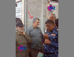 Soleimani (left) and Pakpour (arrow) in the Fallujah area (Jahan News, June 1, 2016).