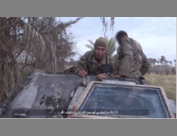 The suicide bomber Abu Omar the Uzbek on his way to carry out a suicide bombing attack against the Iraqi Army.