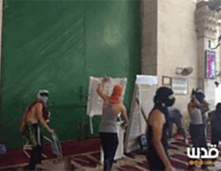 Palestinian youths riot on the Temple Mount.