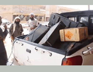Explosives and a crate of ammunition seized in the area of Abu Kamal (Aamaq, June 29, 2016)