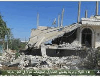 The ruins of the house that was damaged in the suicide bombing attack in Ankhal (all4syria, July 3, 2016)