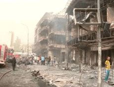 Photo from the scene of the attack (Al-Sumaria, July 3, 2016)