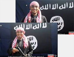 Two of the operatives who carried out the attack at the restaurant in Dhaka. Right: Abu Rahiq the Bengali.  Left: Abu Muslim the Bengali (ISIS-affiliated Twitter account, July 2, 2016)
