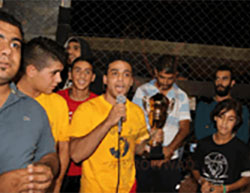 Soccer players from the Bethlehem district who participated in the tournament held to commemorate suicide bomber Abd al-Hamid Abu Srour Website of the al-Rowwad Cultural and Arts Society, July 3, 2016).