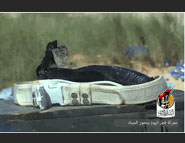 The explosive belt of one of ISIS operatives killed in the attack on the Port of Sirte.