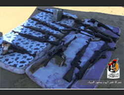 ISIS's weapons that were seized (Facebook page of the information center of the campaign over Sirte, July 5, 2016)