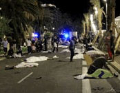 Dead bodies lying on the promenade in Nice after the attack (YouTube).