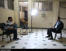 Sheikh Abu-Taleb al-Saeedi (right) interviewed by Tasnim News, July 21, 2016.
