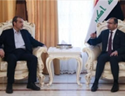 The Iranian ambassador to Iraq (left) and the speaker of the Iraqi parliament  (Jamnews.ir, July 24, 2016).