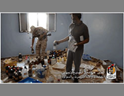 ISIS workshop for manufacturing IEDs and mines in Al-Sawawa neighborhood in eastern Sirte (Facebook page of the information center of the campaign over Sirte, July 30, 2016)