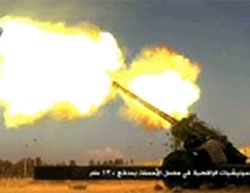 Jaysh al-Fateh artillery fire towards positions of the militias loyal to the Syrian regime at the Al-Sheikh Said cement factory in southern Aleppo, near the Al-Ramousah neighborhood.