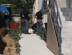 Site of a rocket hit in the southern Israeli city of Sderot. The rocket fell between two houses. There were no casualties and no damage was reported (Israel Police Force spokesman's unit, August 21, 2016).
