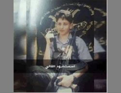 Abu Ghrab, killed during a stabbing attack. The picture was taken in his youth and shows him holding weapons, sitting in front of a Palestinian Islamic Jihad flag (Facebook page of the PIJ in the Jenin district, August 24, 2016).