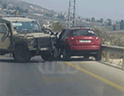 The scene of the stabbing attack near Yitzhar (south of Nablus) where an IDF soldier was wounded (Facebook page of Qabatiya al-A'an, August 24, 2016).