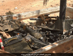 Weapons of the rebels that fell into the hands of ISIS (Haqq, August 25, 2016).