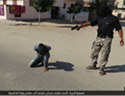 The execution of the Egyptian Interior Ministry employee.