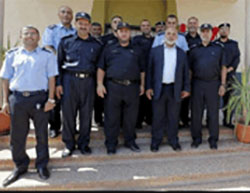 The Hamas police in the Gaza Strip inaugurate new headquarters in the western part of Khan Yunis. The ceremony was attended by the commander of the internal security forces in the Gaza Strip and the commander of the Gazan police force (Facebook page of the ministry of the interior in the Gaza Strip, September 8, 2016).