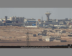 Aleppo industrial zone as seen from one of the ISIS positions.
