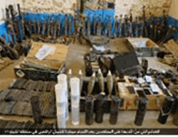 Weapons seized by ISIS in the Iraqi military camp.